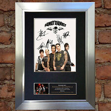 AVENGED SEVENFOLD Signed Autograph Mounted Re-Print A4 120