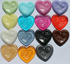 Heart Bridal Shower Favors Engagement Party Wedding Scented Soaps - Pack of 50
