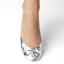 After Party Flats Silver Star Roll-Up Flats
