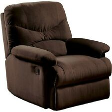 Microfiber Recliner Lazyboy Chair Wall Adjustable Furniture Wide Arms Wood New