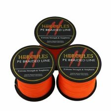 Hercules Orange 100M-2000M 6lb-300lb Spectra PE Dyneema 4S&8S Braid Fishing Line