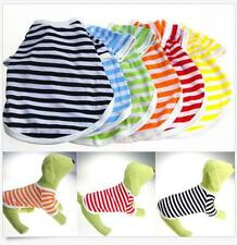 Apparel Small Dog Cat 6 Colors Summer Pet T- Shirt  Clothes Puppy Vest  Shirt