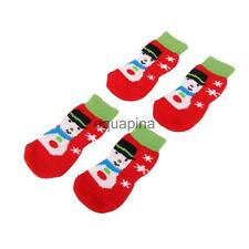 Christmas Snowman Dog Cat Socks with Cute Paw Prints Shoes Slippers Size S-XL