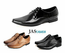 Mens Lace Up Formal Shoes Dress Smart Fashion Casual Work Office Wedding JAS UK