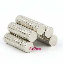 Lots Super Strong Disc Rare Earth Neodymium Magnets N52 5mm x 2mm Small Magnet