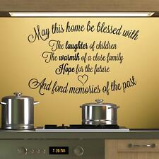 May This Home Be Blessed 4 - Wall Decal Art Sticker lounge living room bedroom
