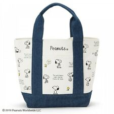 PEANUTS SNOOPY Cool Lunch Tote Bag Sholder Purse Cotton Handbag from Japan S5272