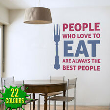 People Who Love To Eat -  Wall Decal Sticker lounge living room dining room