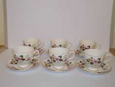 6 x Gainsborough Bone China Tea Cups and Saucers Floral Design Lovely