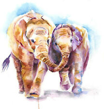 HELEN ROSE Limited Print of my ELEPHANTS original watercolour painting 167