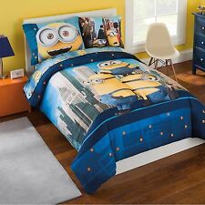Minions 5-6 Piece Twin/Full Bedding Sheet Pillowcase Reversible Comforter Set
