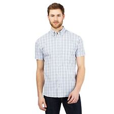 Maine New England Mens Navy Checked Print Shirt From Debenhams