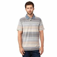 Mantaray Mens Blue Birdseye Pique Striped Polo Shirt From Debenhams