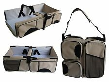 3 In 1 Baby Travel System Diaper Bag Bassinet Change Station Tote Crib Infant