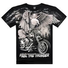 Fashion Funny 3D Eagle Pattern Cool Men's Round Neck Short Sleeve Cotton T-shirt