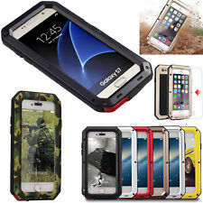 Shockproof Aluminum Heavy Duty Gorilla Metal Hard Case Cover For iPhone &Samsung