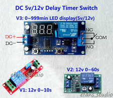 DC5V 12V Adjustable NE555 Delay Timer Time Relay Switch Relay Module LED Display