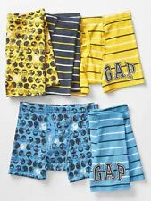GAP KIDS UNDERWEAR BOXER BRIEFS BOYS PACK OF 5 FOOTBALL SIZE M L XL NEW
