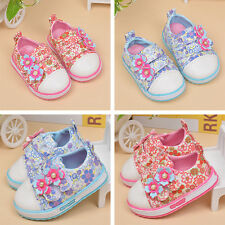 Shoes Breathable Flowers Comfortable Toddler Kids Fashion Girls Casual Velcro