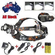 RJ5000 13000LM 3*XM-L2 LED Headlamp 2X18650 USB Head Light Torch  Lamp+Charger