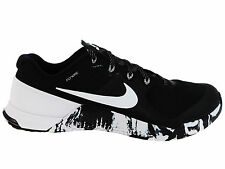 NEW MENS NIKE METCON 2 CROSS TRAINING SHOES TRAINERS BLACK / WHITE