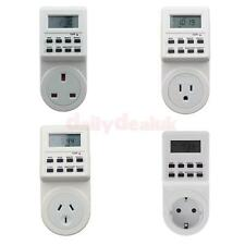 Digital Electronic LCD Programmable Plug-in Timer 12/24 Hr Switch Socket Plug