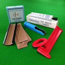 5 Piece Blue Diamond Snooker or Pool Cue Tips Accessory Kit