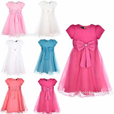 Girls Wedding Party Bridesmaid Flower Dress Formal Size Age 2-13 Years New
