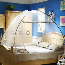 Newest Mosquito Net Foldable Yurt Shape Bed Curtain Single Entry Bedding Canopy