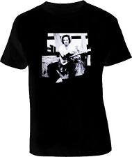 Merle Haggard Country Legend RETRO Cool Black T Shirt