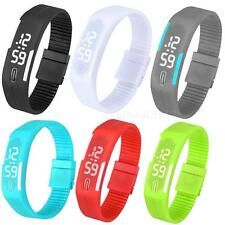 Mens Womens Watches Rubber LED Watch Date Sport Bracelet Digital WristWatch MKLG