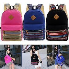 Bookbags Canvas Backpack For Girls Boys School bag Shoulder Travel Rucksack Bags
