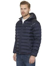Men's Original Penguin Blue Saphire Hooded Down Jacket NEW