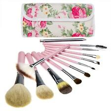 Professional Soft Cosmetic Makeup Brush Set Flower Pouch Bag Case Lip Brush CN