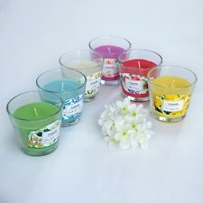 9x8cm Fumare SCENTED PILLAR GLASS JAR CANDLE BRAND NEW 6 SCENTS AVAILABLE