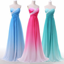 GK Strapless Chiffon Bridesmaid Ball Gown Evening Prom Party Dress Full-length