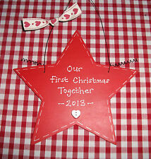 Personalised 1st First Christmas Together ~ Xmas Sign Plaque ~ Tree Decoration