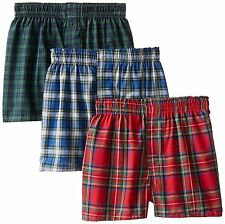 Hanes BU845C Boys 3 Pack Ultimate Tartan Boxer S- Choose SZ/Color.