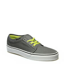 Vans Mens Womens Trainers Canvas Lace Up 106 Vulcanized Smoked Pearl Grey Lime