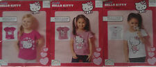 Childrens Hello Kitty Girls T Shirt Age 4-6 Deep Pink, Pale Pink, White