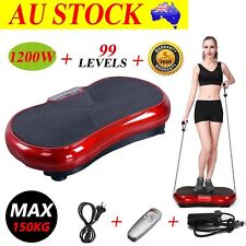 1200W Vibration Machine Trainer Plate Platform Body Shaper Exercise Fitness RED
