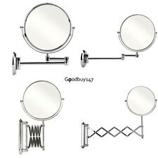 Magnifying Bathroom Vanity Mirror Make Up Cosmetic Shaving Swivel Wall Mount