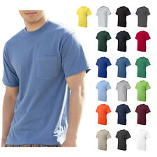 Hanes Beefy-T T-Shirt Tagless Pocket 6.1 oz. 100% Cotton Mens Tee 5190 S-3XL