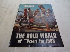 Vintage Motorcycle Ad BSA Bold World BSA 1968 4 page full color