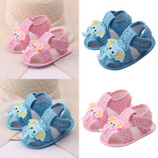 Baby Girl Boy Trendy Cartoon Elephant Pattern Soft Sole Shoes Toddler Sandals