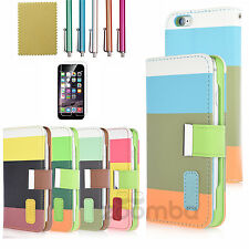 For Apple iPhone 6S Retro Luxury Magnetic Leather Card Wallet Flip Case Cover