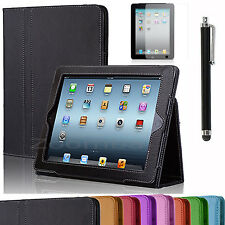 Folio Magnetic PU Leather Smart Cover Stand Case For Apple iPad 2 3 4 Wake/Sleep