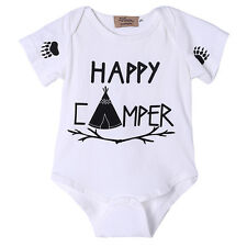 Newborn Kids Baby Boy Girls Romper Jumpsuit Bodysuit Infant Clothes Outfit 0-18M
