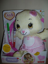 *NEW*Fisher-Price Doodle Bear Marigold Yellow w/Pink dress washable with markers