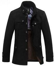 New Men's Slim Fit Winter Coat Wool Long Jacket Outerwear Overcoat  Trench Parka